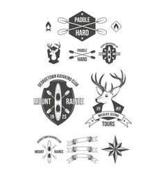 outdoor activities badges vector image