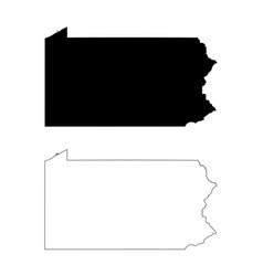pennsylvania pa state map usa vector image