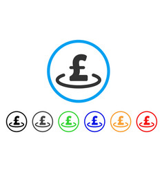 Pound location rounded icon vector