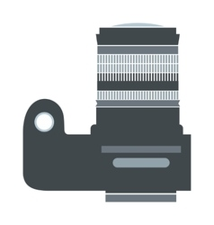 Professional camera flat icon vector