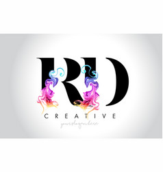 Rd vibrant creative leter logo design with vector