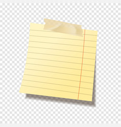 realistic sticky note sheet blank lined paper vector image