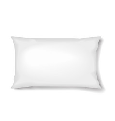 Rectangular pillow pillow template isolated on vector