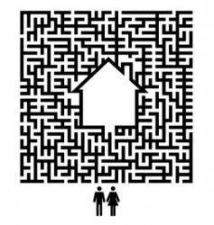 Residents maze vector
