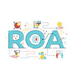 roa - return on assets vector image