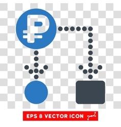 Rouble Cashflow Eps Icon vector image