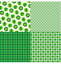 saint patricks day plaids and patterns vector image
