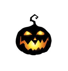 scary and evil pumpkin jack o lantern with orange vector image