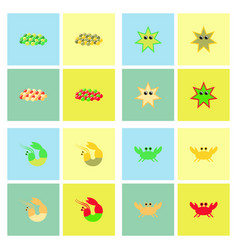 Sea life and underwater seabed animals set vector