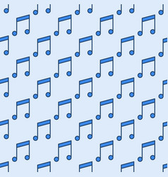 seamless pattern made with blue musical vector image