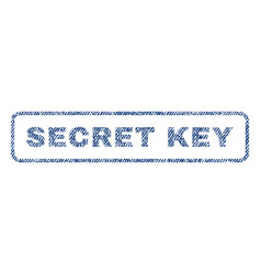 Secret key textile stamp vector