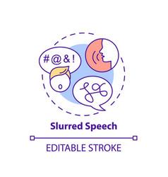 Slurred speech concept icon vector