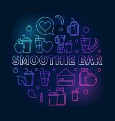 Smoothie bar concept colorful circular line vector