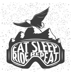 Snowboarding Mask Emblem vector image