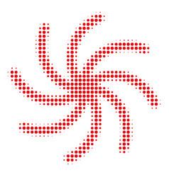 Spiral galaxy halftone icon vector