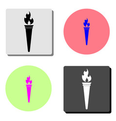 torch flat icon vector image