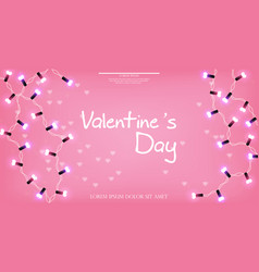 valentine day glowing lights realistic vector image