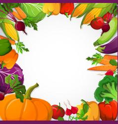 Vegetables decorative frame vector