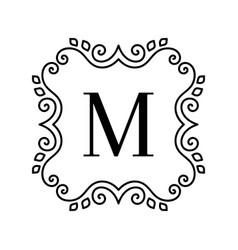 Vintage decor logo vector