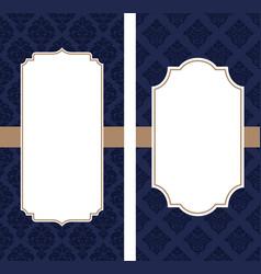 vintage greeting cards wedding invitation vector image