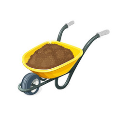 Wheelbarrow with ground vector