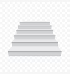 White stairs white realistic staircase up vector