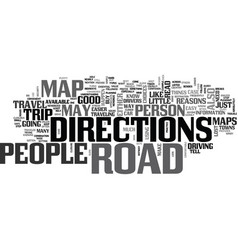 Why have a road map text word cloud concept vector