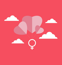 women day logo vector image