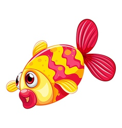 A pouty fish vector image