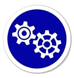 gears sticker vector image vector image