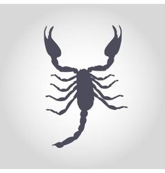 Scorpion Silhouette Icon vector image