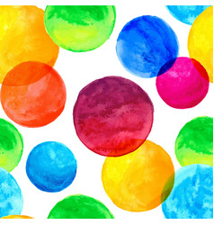 seamless pattern with colorful watercolor painted vector image