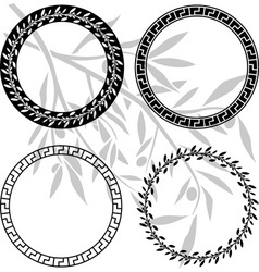 ancient hellenic patterns in rings vector image vector image