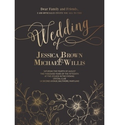 Awesome wedding invitation vector image vector image