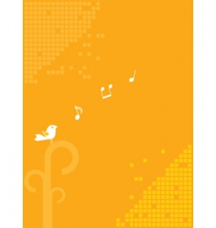 bird and music background vector image vector image