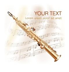 Classical soprano sax vector image