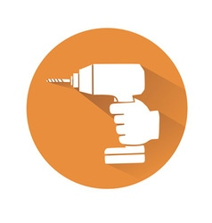 Hand with drill vector