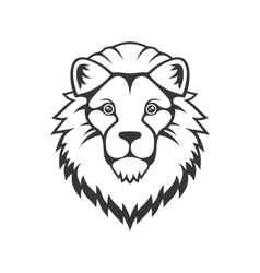 Lion head logo on white background vector
