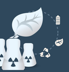 nuclear power plnat energy environment recycle vector image