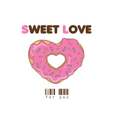 sweet love vector image vector image