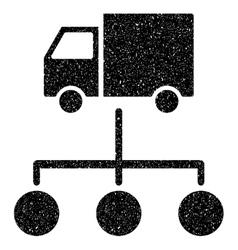 Van Distribution Scheme Grainy Texture Icon vector image vector image