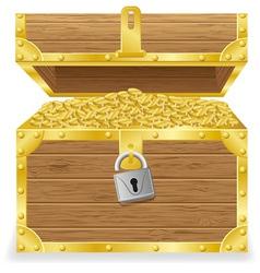 antique treasure chest vector image