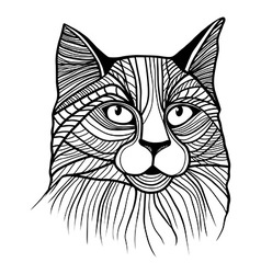 Cat head animal vector image vector image