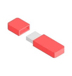 Flash Drive flat 3d isometric graphic vector image