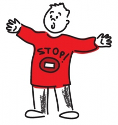 just stop it vector image vector image