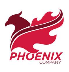 phoenix bird or fantasy eagle logo template for vector image vector image