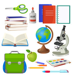 school necessary thing for studying vector image vector image
