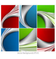 wavy backgrounds set vector image vector image