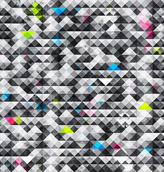 abstract triangle grunge seamless pattern vector image