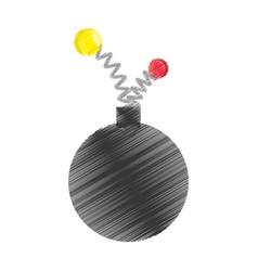 drawing bomb april fools day vector image
